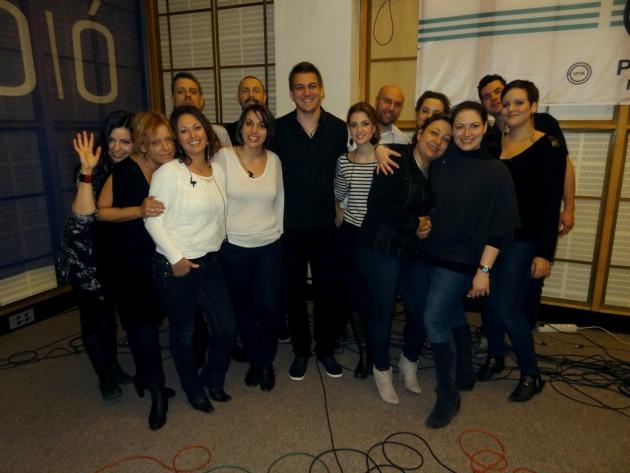 Budapest Voices a Petőfi Rádió stúdiójában (Fotó: artnews.hu)