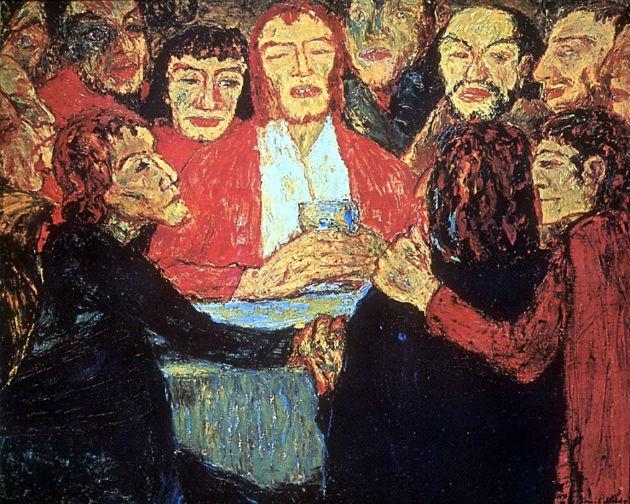 Emil Nolde: The Last Supper (1909) (Fotó: webpages.cs.luc.edu)