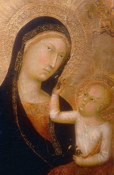Lippo Memmi: Madonna gyermekével (Fotó: juxtapost.com)