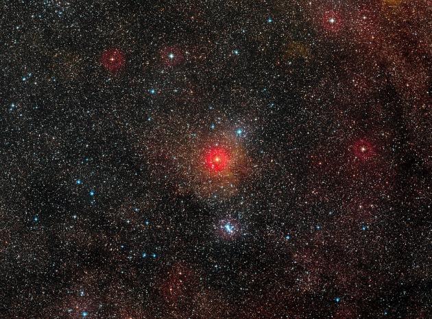 HR 5171 és környezete az ESO nagy látószögű felvételén (Fotó: ESO/Digitized Sky Survey 2)