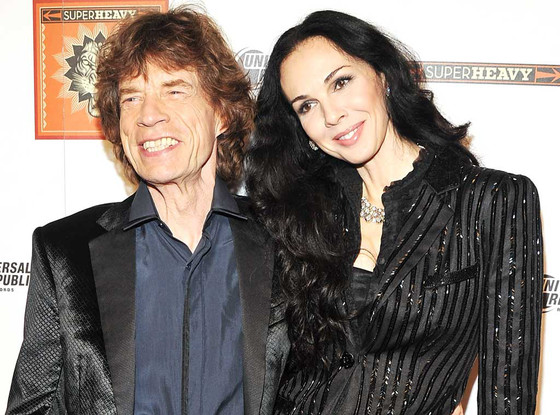 Mick Jagger és L'Wren Scott (Fotó: Stephen Lovekin/Getty Images/eonline.com)
