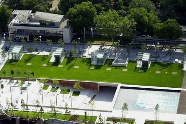 A Design Terminál és az Erzsébet tér felülnézetből (Fotó: hir.ma)