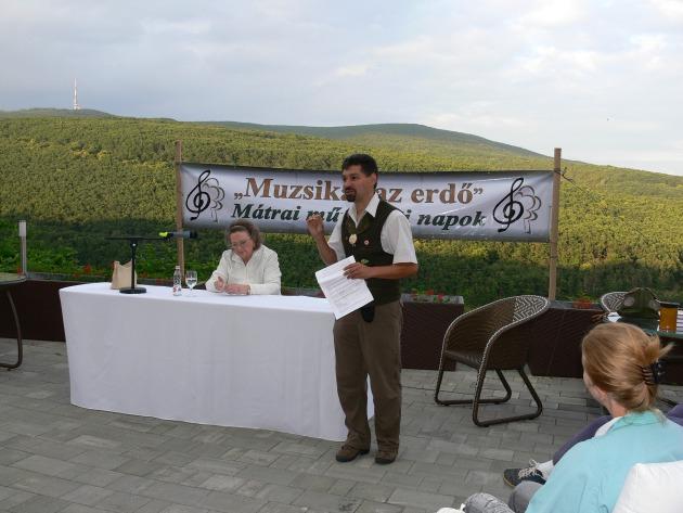 Jókai Anna a Muzsikál az Erdő 2013-as rendezvényén