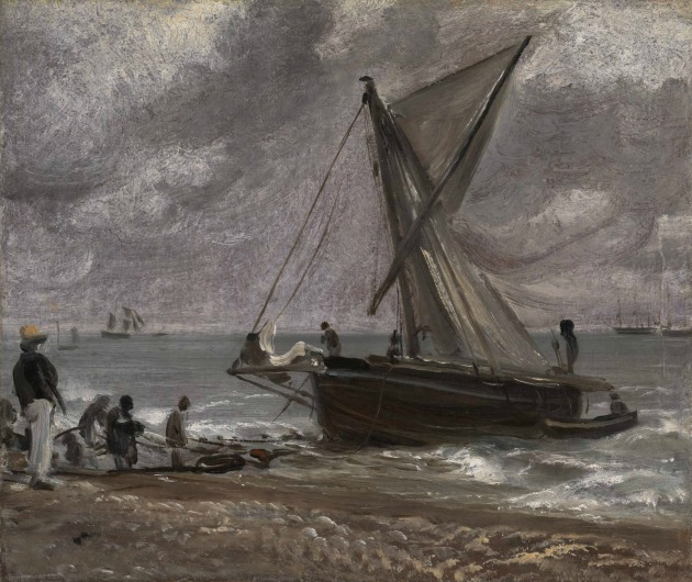 John Constable: Beaching a Boat, Brighton, 1824 (Forrás: tate.org.uk)
