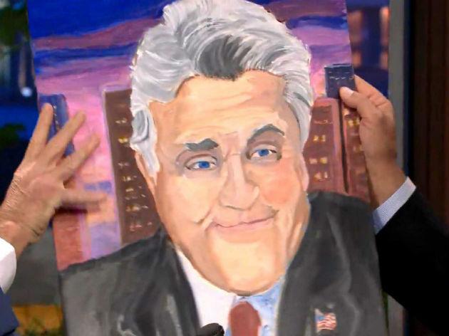 Bush egy korábban bemutatott képe Jay Leno televíziós műsorvezetőről (Fotó: businessinsider.com)