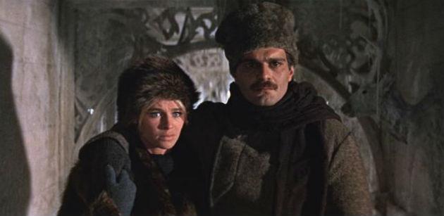 Julie Christie és Omar Sharif a Doktor Zsivagó 1965-ös filmadaptációjában