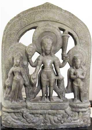 A 12. századi Visnu szobor (Forrás: artnewspaper.com)