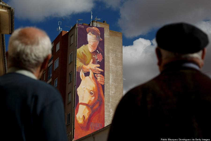 Az egyik legfrissebb alkotás, mely 2014. április 5-én készült el a spanyol városban. A képen egy hatalmas Don Quijote-t csodálhatnak meg az éppen arra járók.
