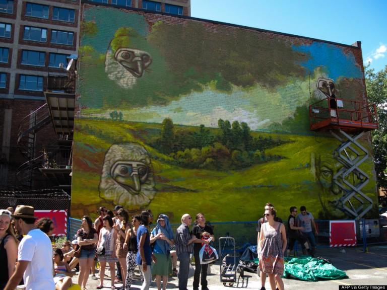 Ez a kép a 2013-ben megrendezett Mural Festivalra készült.