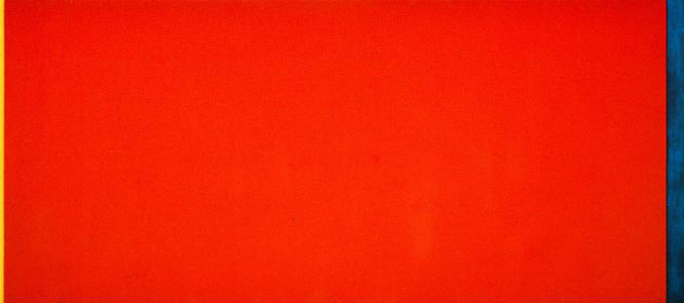 Who's Afraid of Red, Yellow and Blue III. ( 224X544 cm, olaj és vászon, 1966/67)