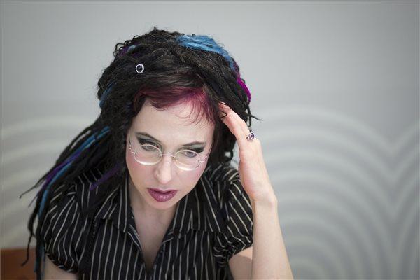 Sofi Oksanen finn írónő (MTI Fotó: Mohai Balázs)