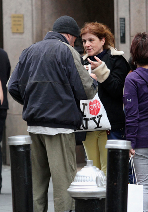 Francia turista és Richard Gere (Fotó: insideedition.com)