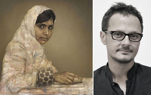 Malala Juszufzai portréja és a festő, Jonathan Yeo