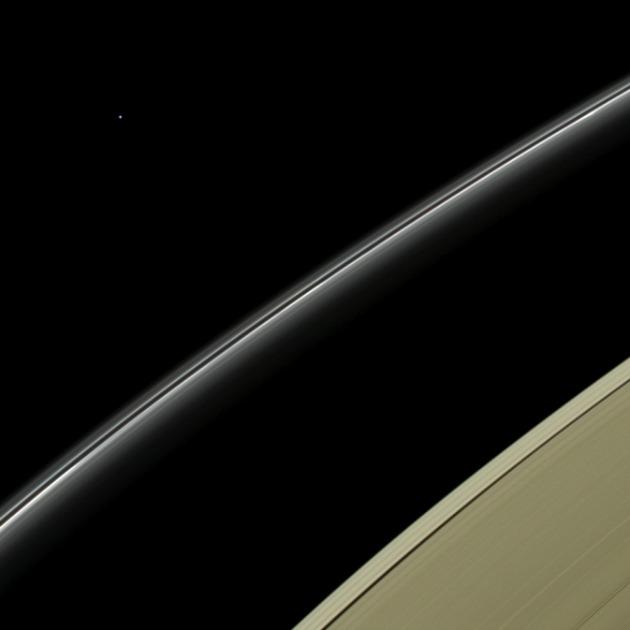 Az Uránusz a Szaturnusztól (Fotó: NASA/JPL-Caltech/Űrtudományi Intézet)