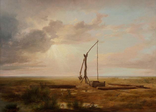 Markó Károly - Magyar alföldi táj gémeskúttal, 1853, olaj, vászon, MNG