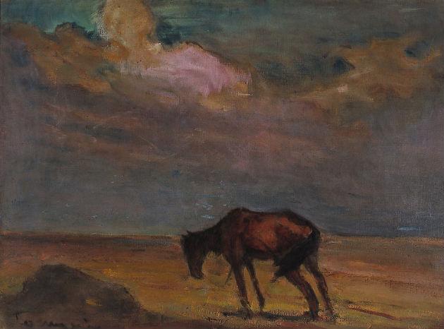 Tornyai János - Bús magyar sors (Önéletrajz), 1908, olaj, vászon, Tornyai János Múzeum, Hódmezővásárhely