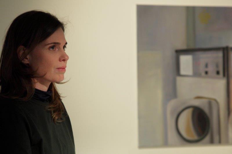 Soós Kata Mosókonyha című kiállításának megnyitóján (Fotó: litera.hu)
