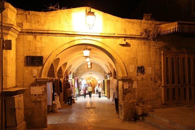 Az Aleppoi bazár a háború előtt...