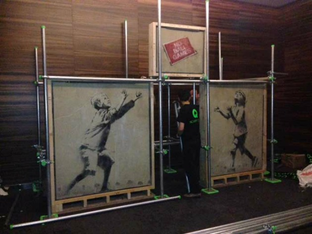 Stealing Banksy? - az áprilisi kiállítás (Fotó: theartnewspaper.com)