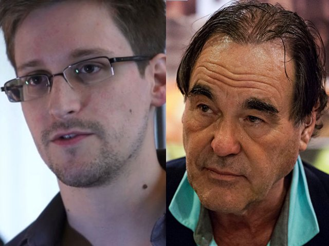 Edward Snowden és Oliver Stone (Fotó: rpp.com.pe)