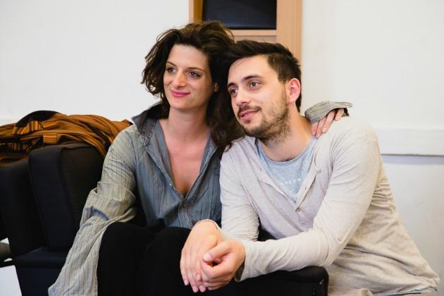 Jordán Adél és Szabó Kimmel Tamás a próbán (Fotó: Takács Attila)