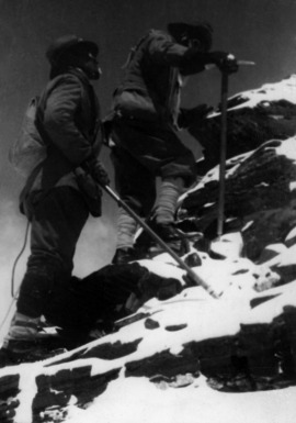 George Leigh Mallory és Felix Norton a Mount Everesten 1922-ben (Fotó: Hirado.hu/Getty Images)