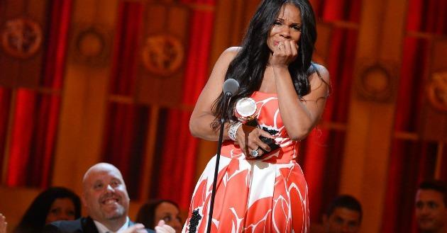 Audra McDonald a díjátadón (Fotó: mashable.com)