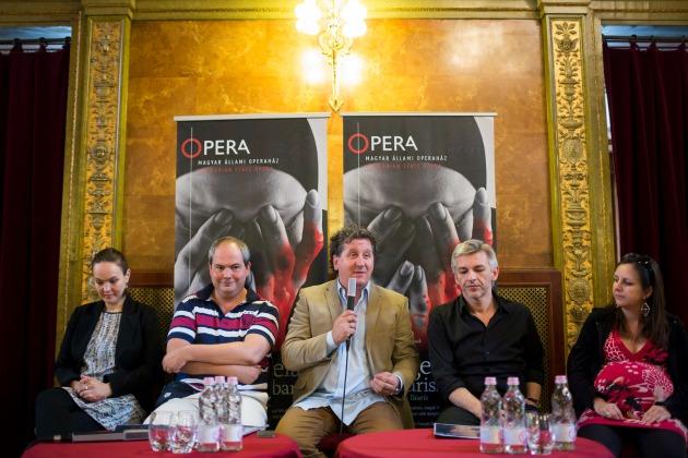 Az Íphigeneia Tauriszban című előadás sajtótájékoztatója a Magyar Állami Operaházban (MTI Fotó: Mohai Balázs)
