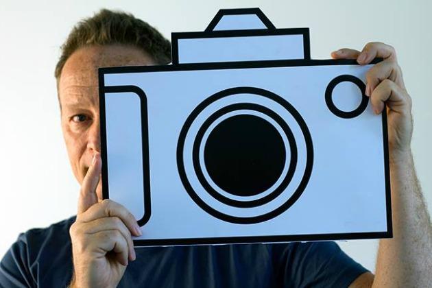 Geszti a kamera mögött - A pályázati felhíváshoz mellékelt fotó