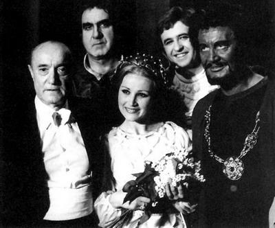 Ferencsik, Melis, Pitti és Simándy társaságában egy Otello előadás után