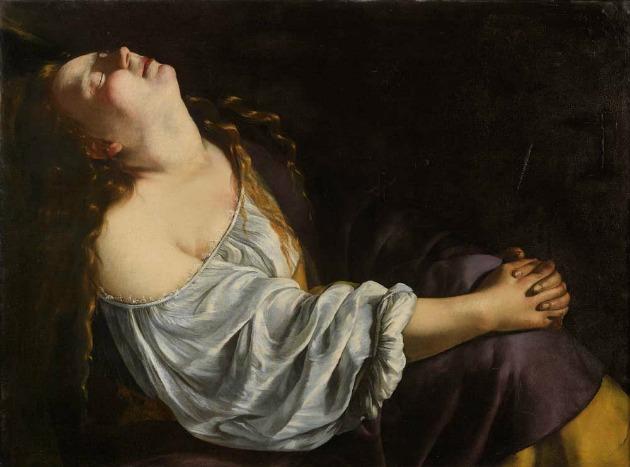 Artemisia Gentileschi: Mária Magdolna eksztázisban (Fotó: Sotheby's France / Art Digital Studio)