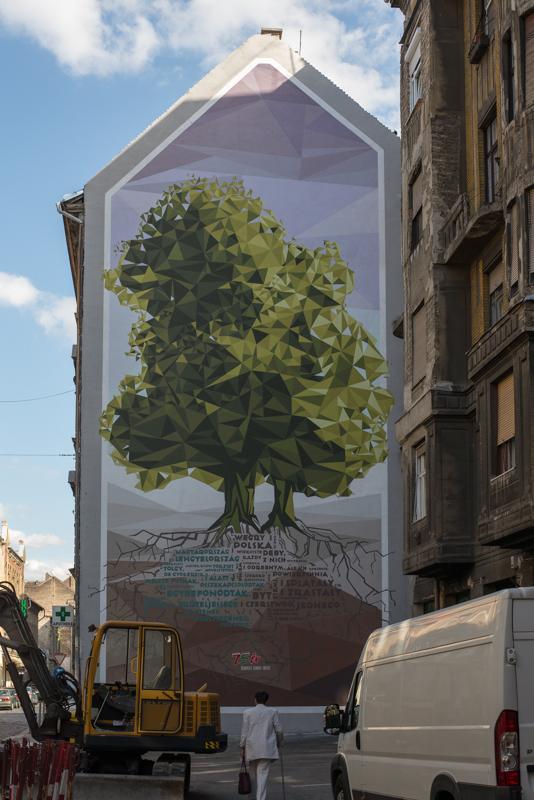 Falfestmény a Lengyel Intézet 75. évfordulójára (Fotó: Marcelina Mace S.)