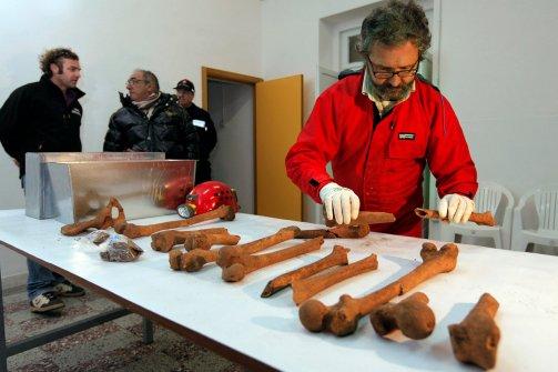 Caravaggio csontjainak azonosítása (Fotó: Fabio Muzzi, AFP / Getty Images)
