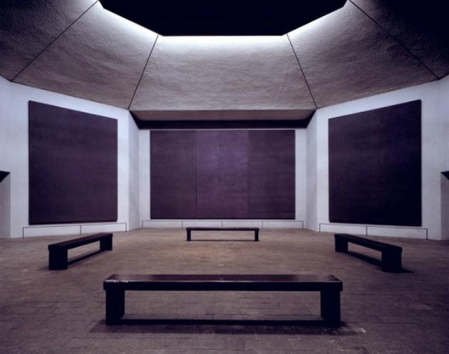 A Rothko-kápolna belülről (Fotó: kunszt.postr.hu)
