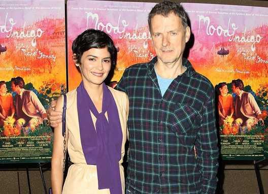 Audrey Tautou és Michel Gondry (Fotó: premiere.fr)