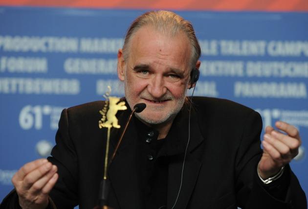 Tarr Béla a Berlini Filmfesztiválon sajtótájékoztatóján2011-ben (Fotó: meszarosmartonblogja.hu)
