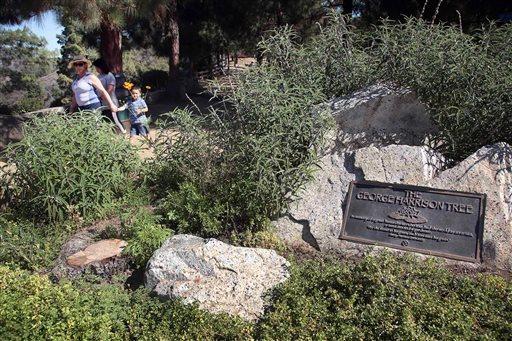 A George Harrison emlékfa helyszíne (Fotó: fresnobee.com)