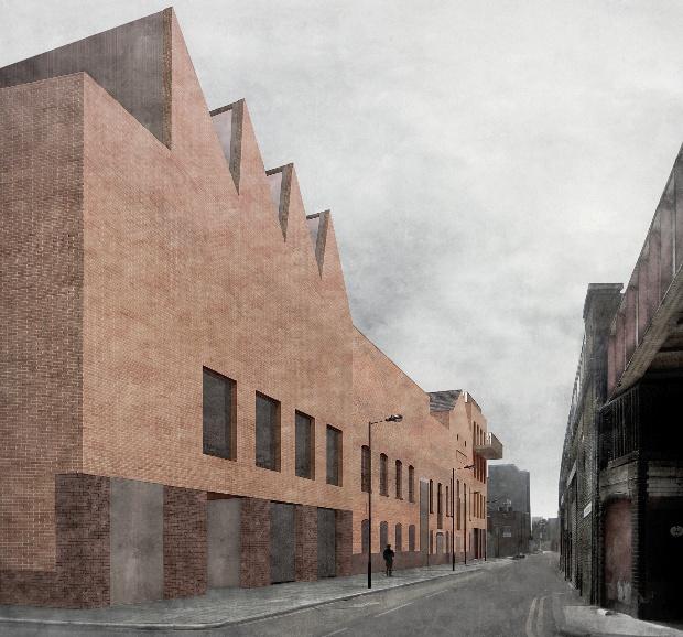Látványterv a Newport Street Gallery épületegyüttesről (Fotó: bdonline.co.uk)
