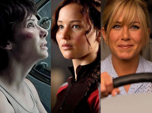 Sandra Bullock, Jennifer Lawrence és Jennifer Aniston a dobogón (Fotó: Twitter/@ENews)