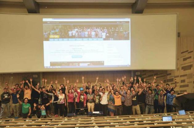 A CERN Summer Student Webfest idei résztvevői (Fotó: James Doherty)