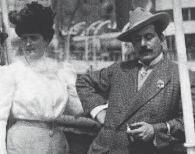 Elvira Bonturi és Giacomo Puccini (Fotó: zeroconfini.it)