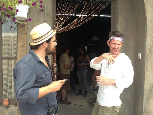 Lovas Nándor és Hajdu Szabolcs a forgatáson (Fotó: 444.hu)