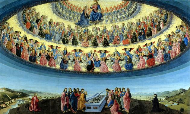 Francesco Botticini: Mária mennybevétele