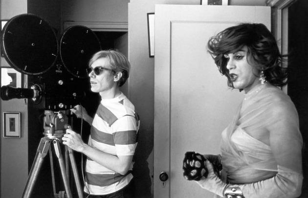 Warhol a Chelsea Girls forgatásán (Fotó: ikono.org)