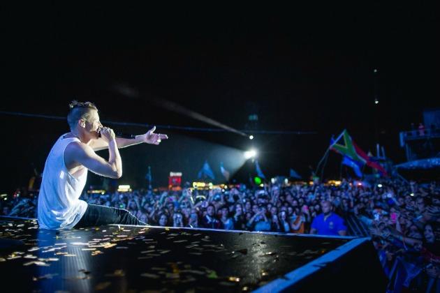 Macklemore a színpadon! (Fotó: Szemerey Bence)