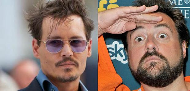Johnny Depp és Kevin Smith (Fotó: filmnews.hu)