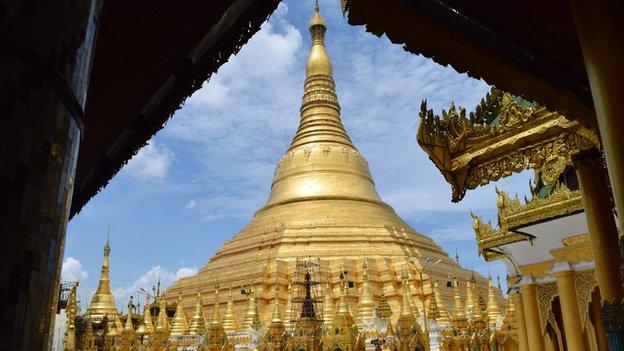 A Svedagon Pagoda (fotó: bbc.co.uk)