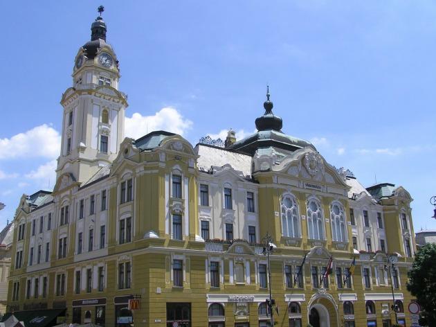 A pécsi vársháza (Fotó: egykor.hu)