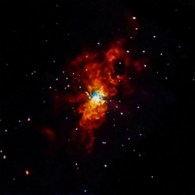 SN 2014J (Fotó: hirado.hu/NASA/CXC/SAO/R.Margutti et al)