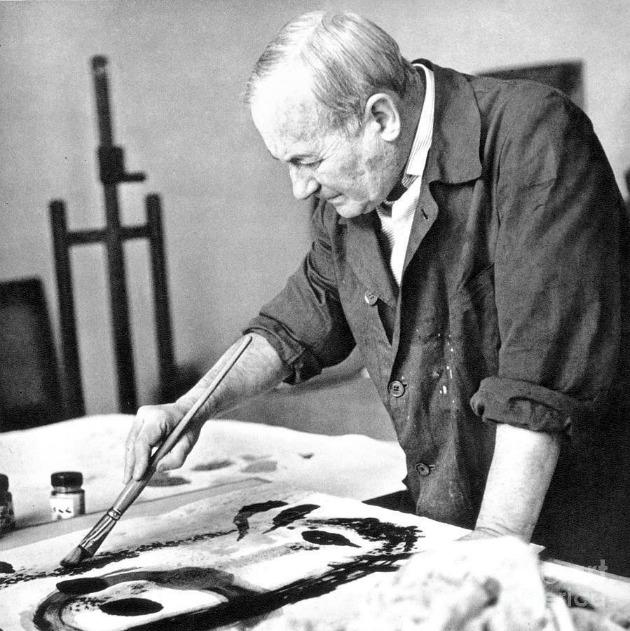 Miró festés közben (Fotó: culturacolectiva.com)